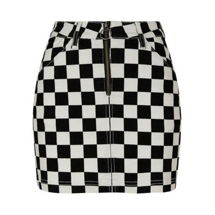 ec7c06375a35e4 Mini jupe zippée à carreaux