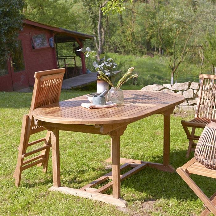Table de jardin ovale en bois de teck 180 capri teck Tikamoon | La ...