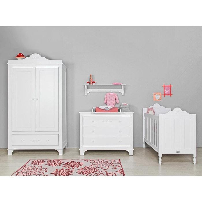 Lit b b romantic 60x120 blanc bopita la redoute - La redoute lit bebe ...