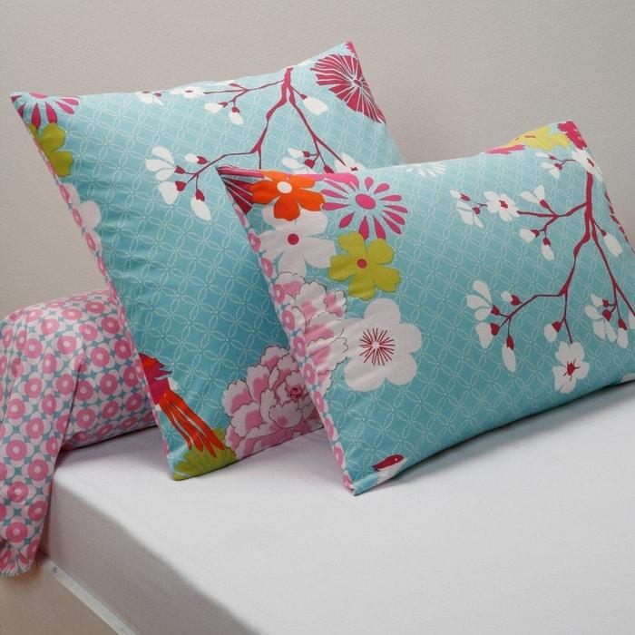 taie coton miss china bleu la redoute interieurs la redoute. Black Bedroom Furniture Sets. Home Design Ideas