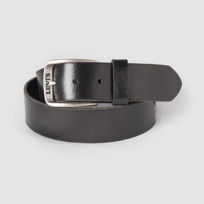 Classic Top Logo Bukkle Leather Belt