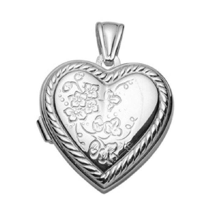 Pendentif cassolette coeur motif fleurs porte photo argent 925 couleur unique So Chic Bijoux | La Redoute Vente Pas Cher Dernière populaire 0LlMr