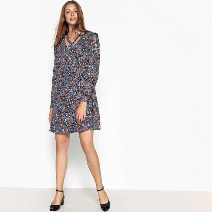 567a587841 Short floral print shift dress