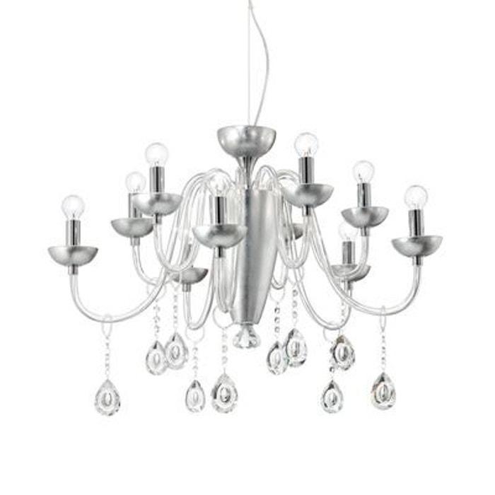 lustre camelia argent 10x40w ideal lux 125091 boutica. Black Bedroom Furniture Sets. Home Design Ideas
