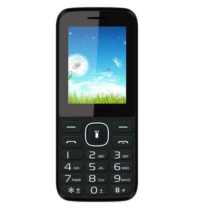Mini t l phone portable double sim mp3 mp4 bluetooth mobile gsm rouge yonis la redoute - La redoute telephone gratuit ...