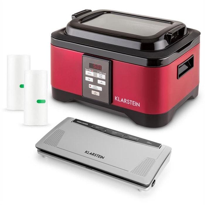 Klarstein Tastemaker & FoodLocker Set machine mise sous vide + cuiseur + sacs y3RKAd