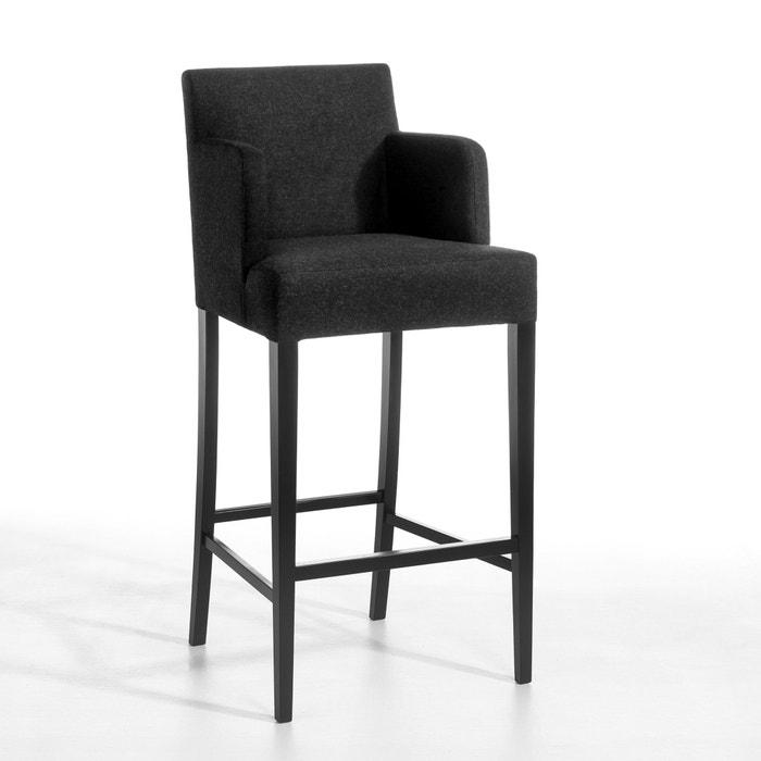 chaise de table haute victor flanelle charcoal am pm la redoute. Black Bedroom Furniture Sets. Home Design Ideas
