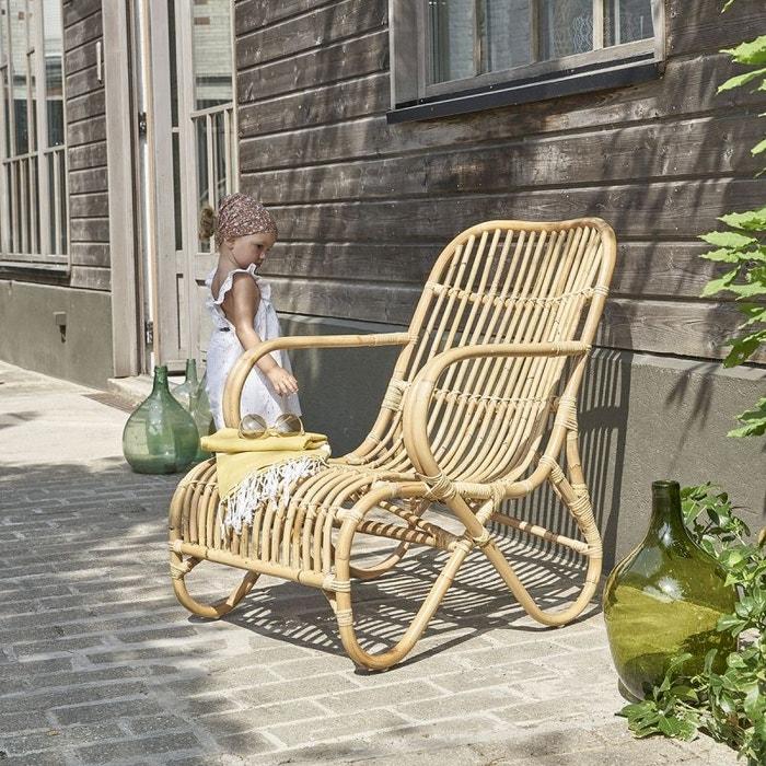fauteuil en rotin relax rotin bois dessus bois dessous la redoute. Black Bedroom Furniture Sets. Home Design Ideas
