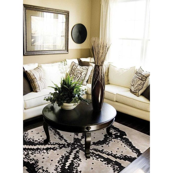 Tapis de salon moderne design oberon black and white - Tapis salon black friday ...