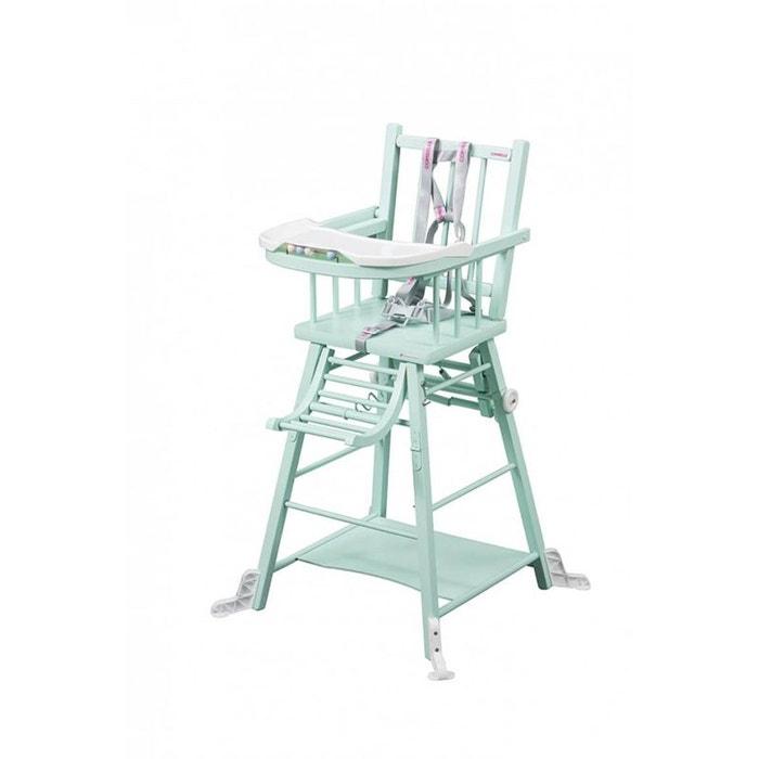 Chaise Haute Marcel Transformable Laque Vert Mint Combelle