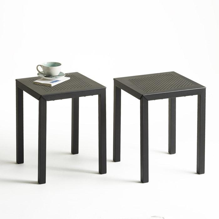 Image Tabouret en métal perforé, lot de 2, Choe La Redoute Interieurs