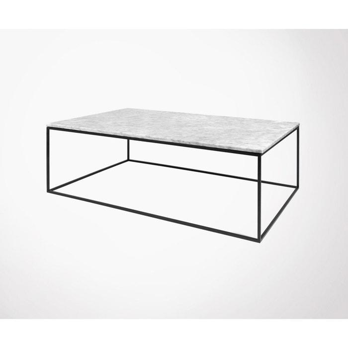 Table Basse 120cm Marbre , Blanc Ou Chêne GLEAM MEUBLES U0026 DESIGN Image 0