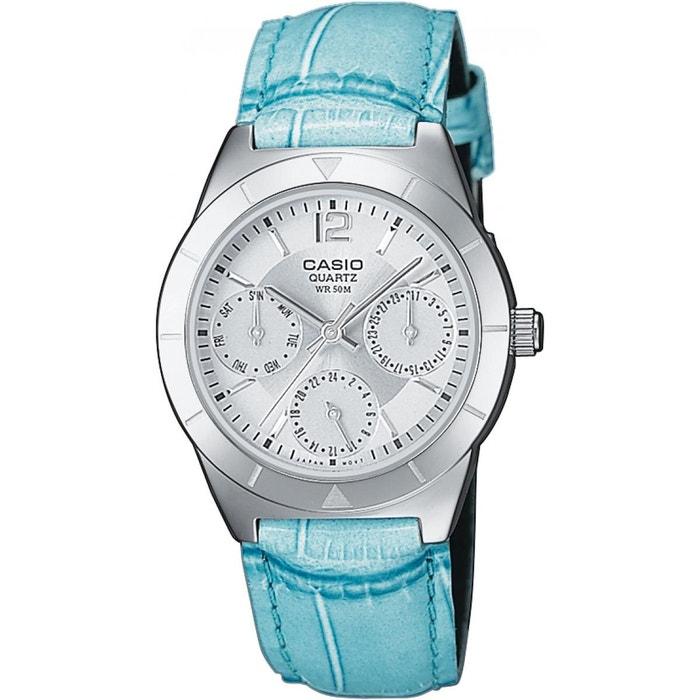 Montre femme cuir ltp-2069l-7a2vef bleu Casio   La Redoute 2458715e15aa