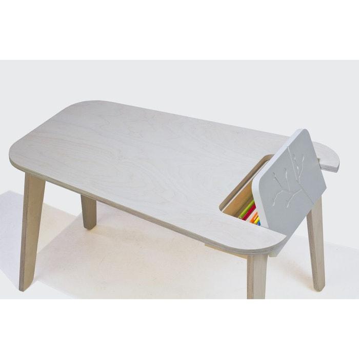 table avec trappe naturel blanc naturel blanc alfred et compagnie la redoute. Black Bedroom Furniture Sets. Home Design Ideas