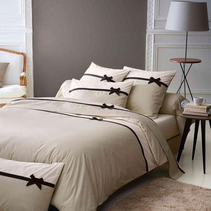 parure de lit frou frou lin tradilinge beige tradilinge la redoute. Black Bedroom Furniture Sets. Home Design Ideas