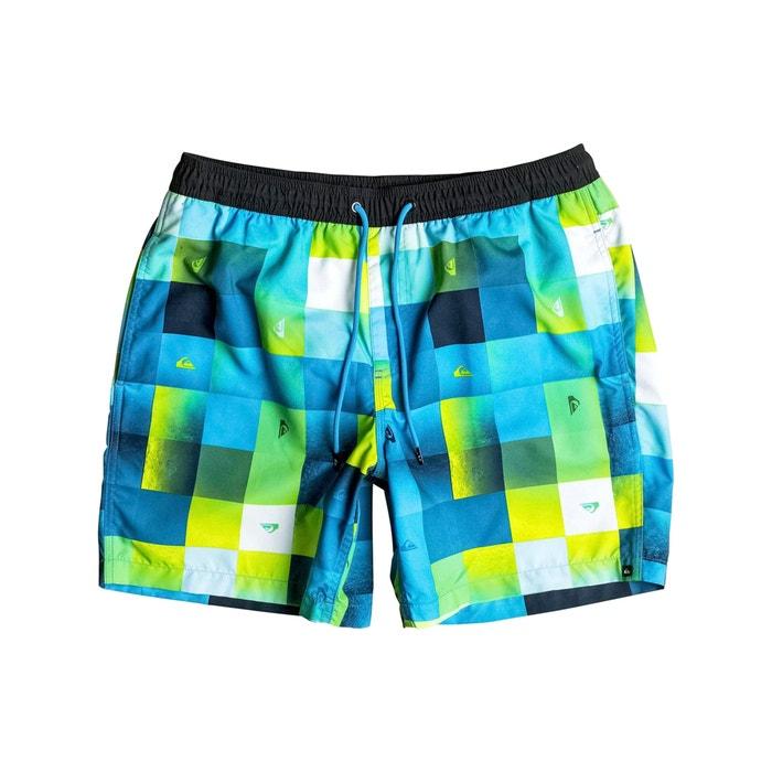 Multi-Coloured Check Swim Shorts