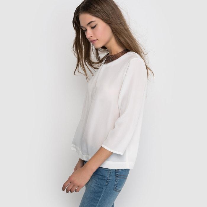 Imagen de Blusa con cuello de lentejuelas R édition