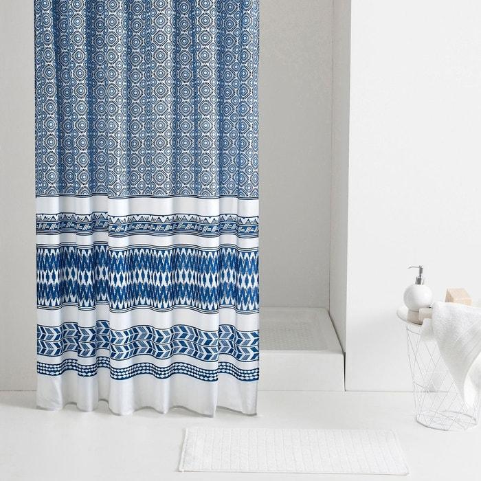rideau de douche azul bleu blanc la redoute interieurs la redoute. Black Bedroom Furniture Sets. Home Design Ideas