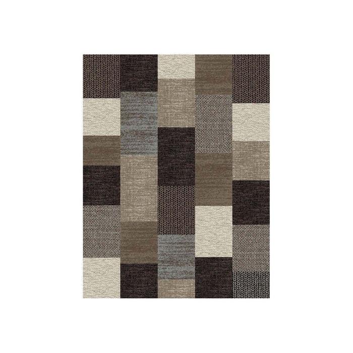 tapis contemporain marron mona marron allotapis la redoute. Black Bedroom Furniture Sets. Home Design Ideas