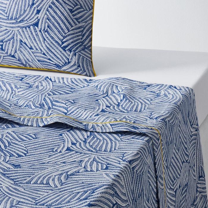 Mistral Blue Printed Flat Sheet  La Redoute Interieurs image 0