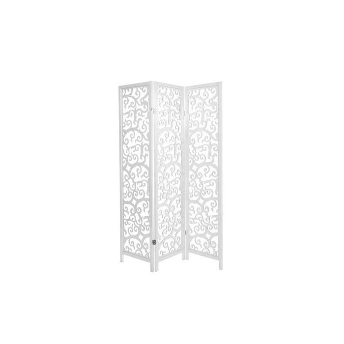 paravent en bois arabesque blanc miliboo la redoute. Black Bedroom Furniture Sets. Home Design Ideas