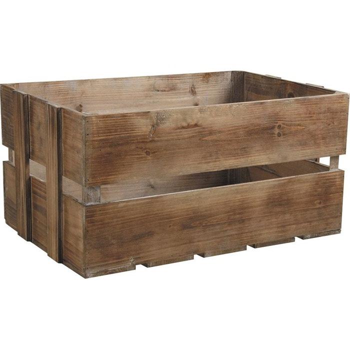 Aubry gaspard caisse en bois vieilli lot de 3 la redoute