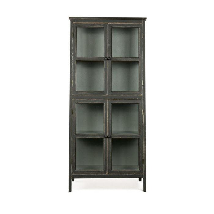 armoire design asym trique en bois noir herritage noir. Black Bedroom Furniture Sets. Home Design Ideas