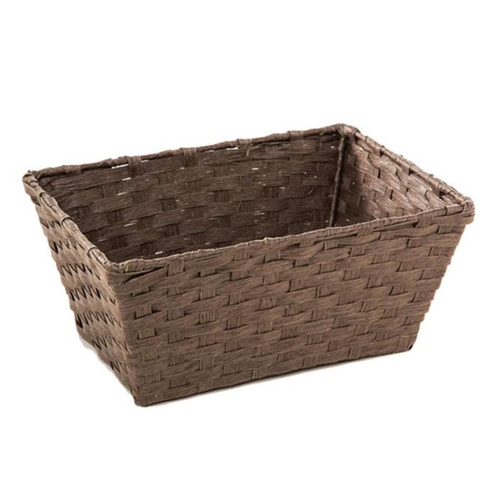 panier de rangement papier tress taupe taupe. Black Bedroom Furniture Sets. Home Design Ideas