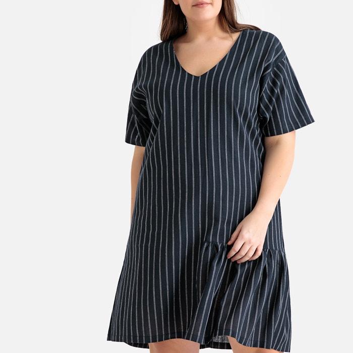 Striped ruffled drop waist dress striped Castaluna Plus Size | La ...