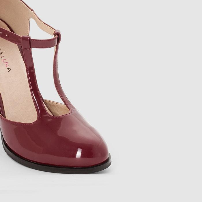 tac Zapatos de 38 243;n correa al ancho de 45 con charol pie del para CASTALUNA EngfqTWE