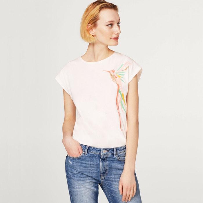 Bedrukt T-shirt met ronde hals en korte mouwen  ESPRIT image 0