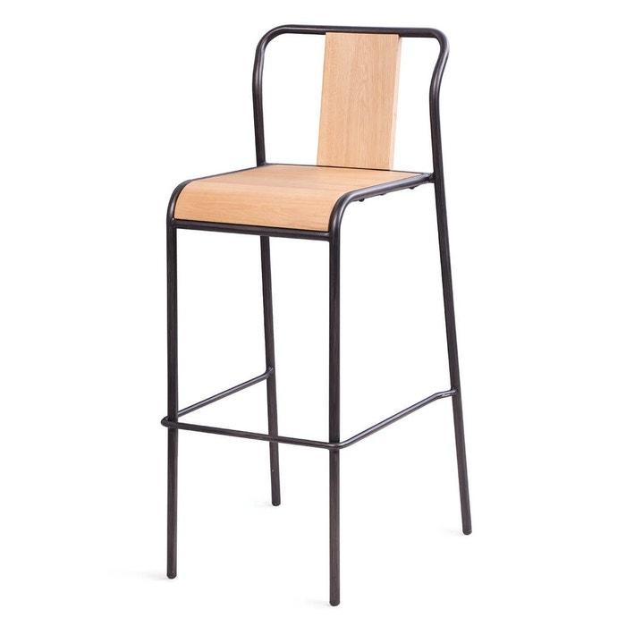 2x chaise de bar ch ne et m tal spirit couleurs des alpes la redoute. Black Bedroom Furniture Sets. Home Design Ideas