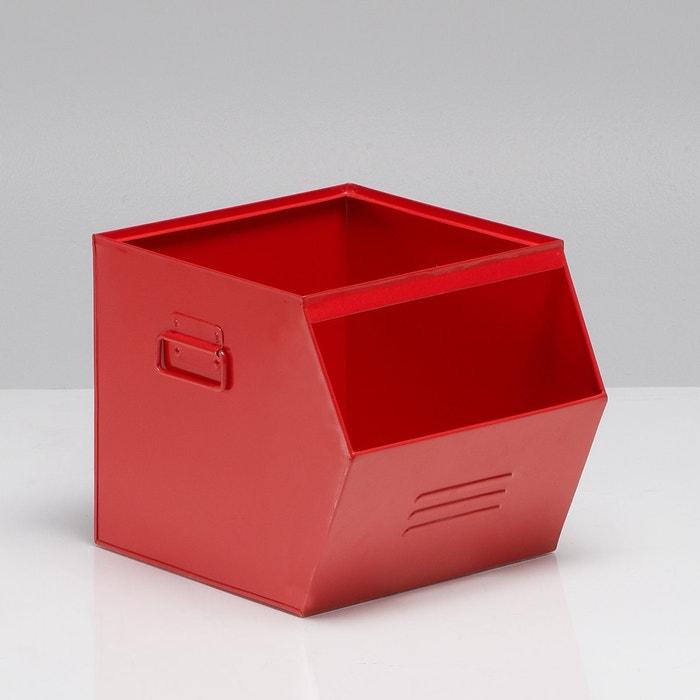 hiba galvanised metal stackable box la redoute interieurs. Black Bedroom Furniture Sets. Home Design Ideas