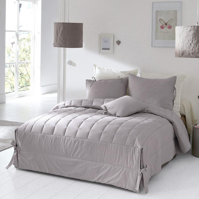 gewatteerde beddensprei afgewerkt met strikjes aimea la redoute interieurs la redoute. Black Bedroom Furniture Sets. Home Design Ideas
