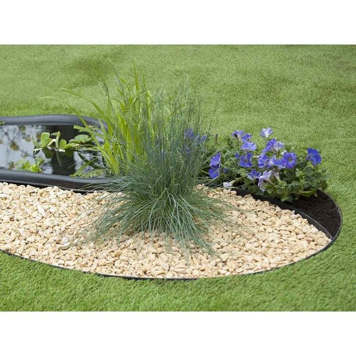 Bordure en polyur thane pour jardin et bassin noir 5 m x for Cailloux couleur pour jardin