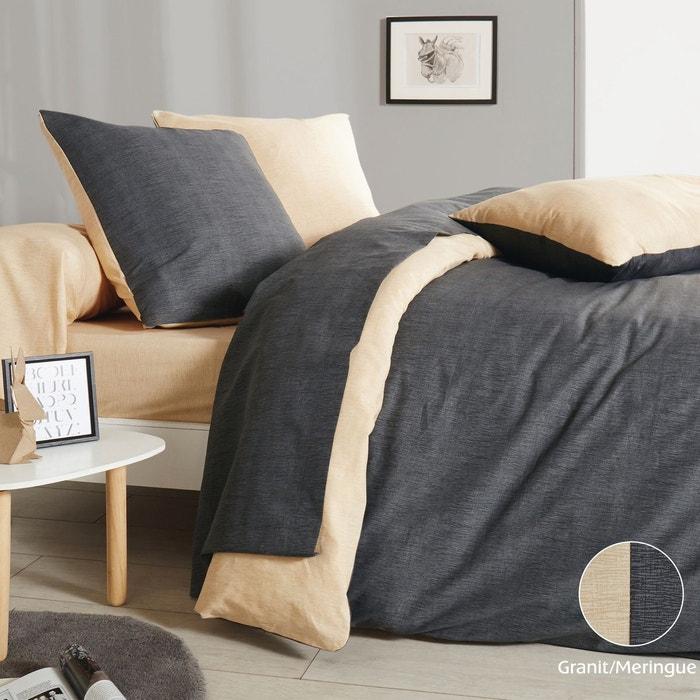 housse de couette aliz en lyocell granit meringue granit meringue origin la redoute. Black Bedroom Furniture Sets. Home Design Ideas