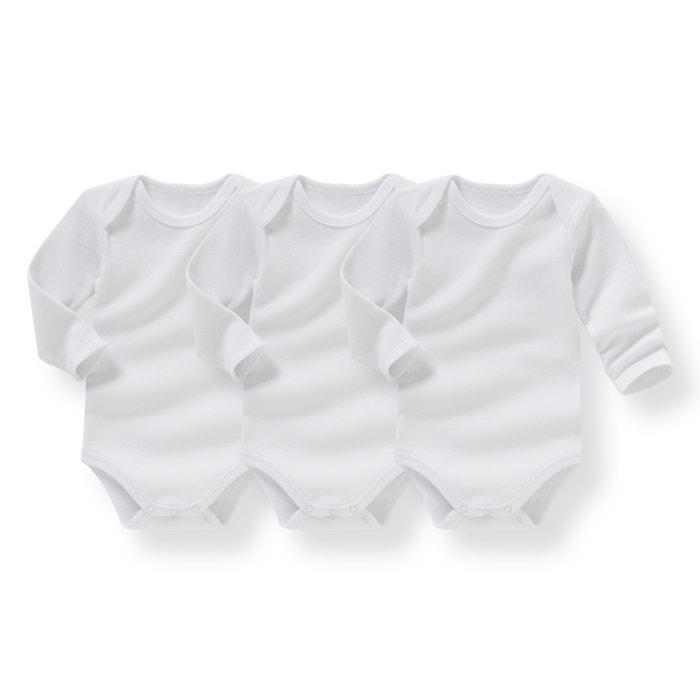 afbeelding Set van baby body's - Oeko Tex La Redoute Collections