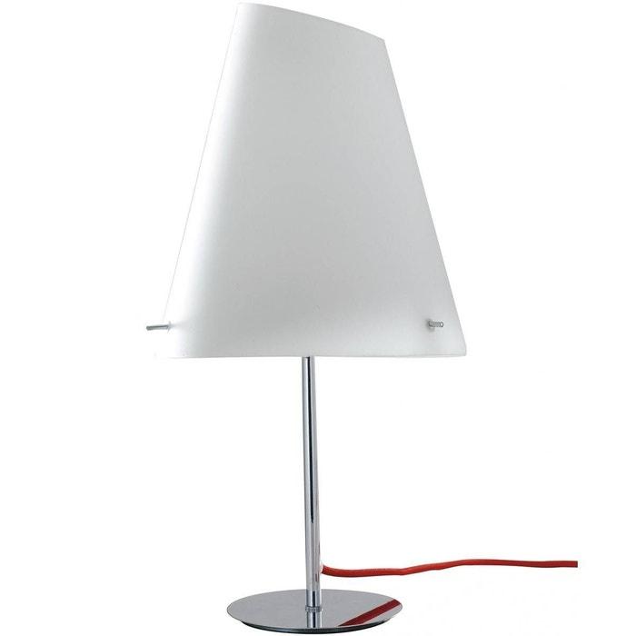À Lampe Blanche Poser En Design Ermes Et Métal Verre 45AjqS3LcR