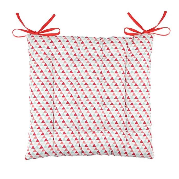 coussin de chaise blanche et rouge 40 cm couleur unique storex la redoute. Black Bedroom Furniture Sets. Home Design Ideas