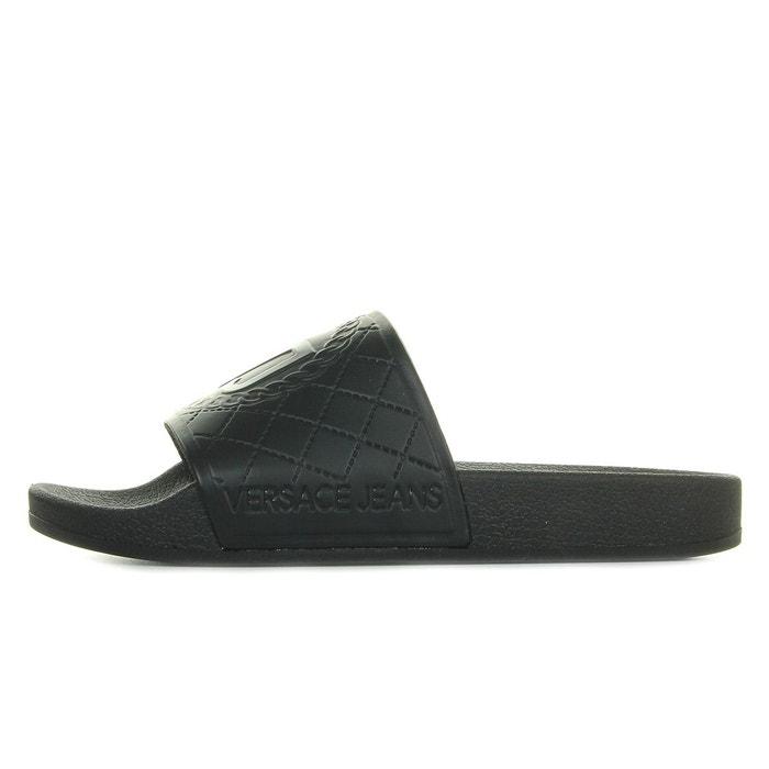 Sandales femme linea mare dis 1 coated effect VERSACE noir