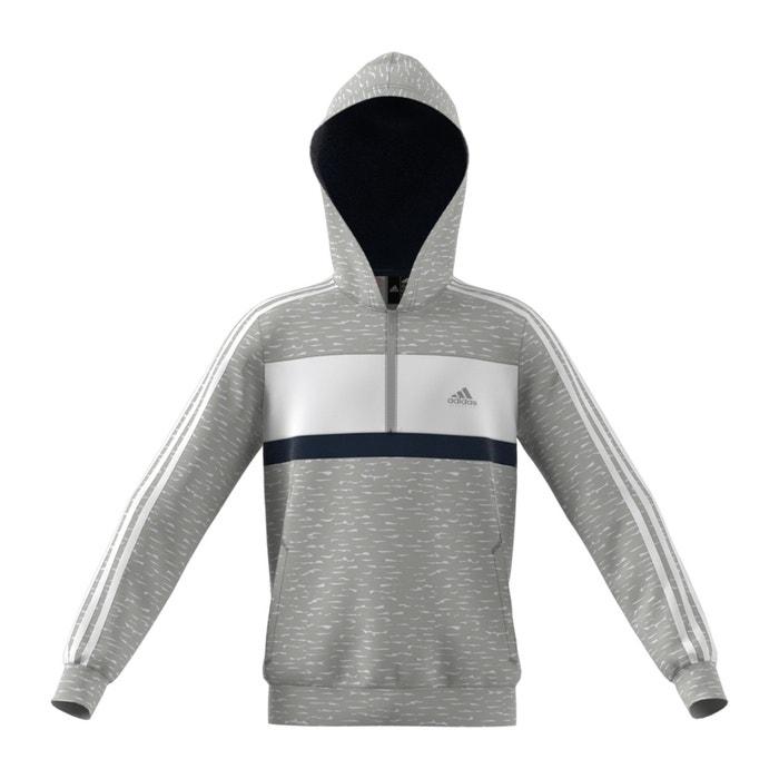 e94726189b3d Felpa con cerniera 7 – 16 anni grigio / bianco / nero Adidas ...