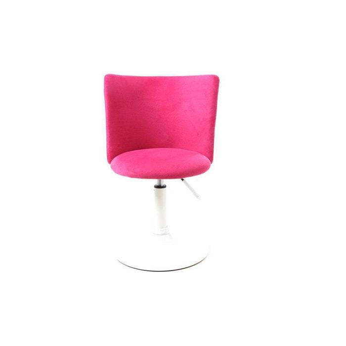 Chaise De Bureau Enfant Rose Et Blanche NEW MARCHANDE MILIBOO Image 0
