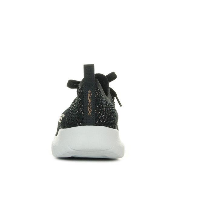 Baskets femme ultra flex salutations noir, doré Skechers