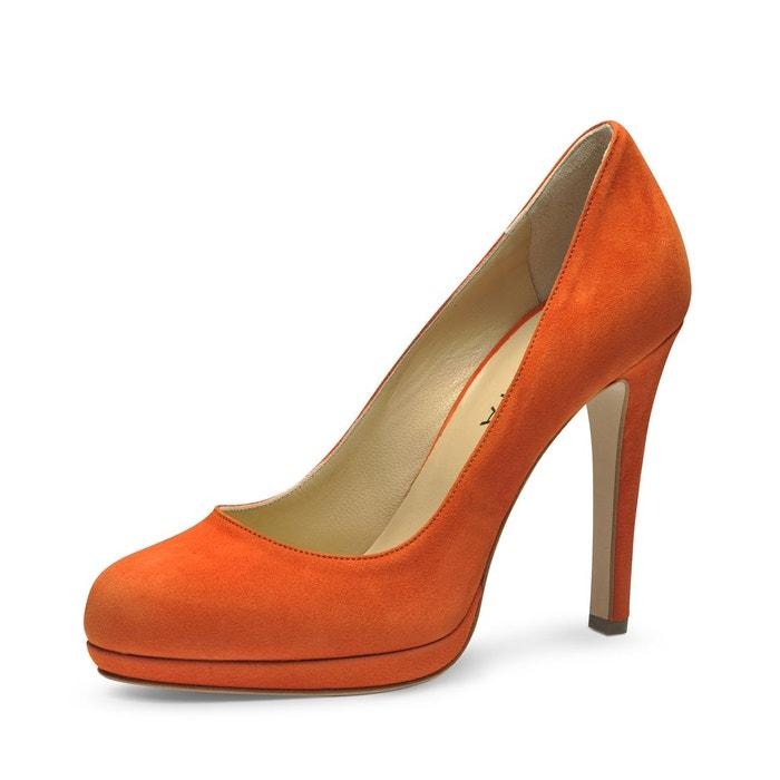 Escarpins femme orange Evita