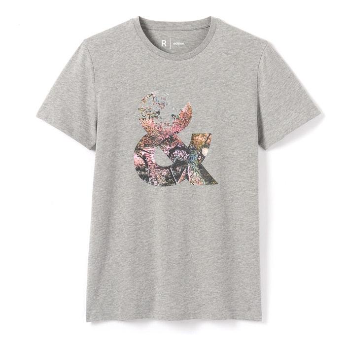 Imagen de Camiseta estampada, cuello redondo, manga corta La Redoute Collections