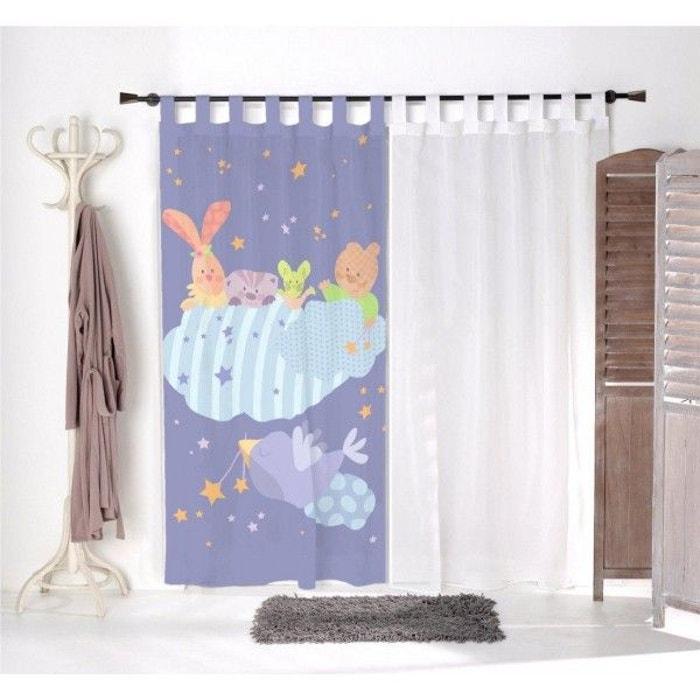 voilage enfant doudou h risson multicolore decoloopio la redoute. Black Bedroom Furniture Sets. Home Design Ideas