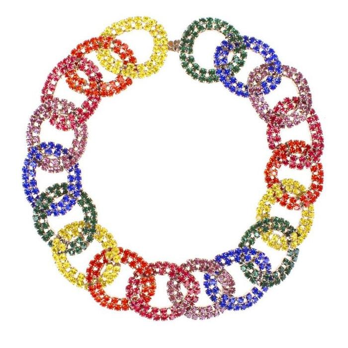 Authentique À Vendre Nouvelle Marque Unisexe En Ligne Collier gatsby multicolore couleur unique Reine Rosalie | La Redoute TqlCH