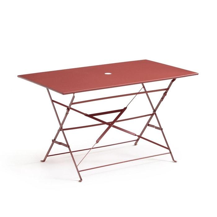 Table pliante carrée, métal ozevan La Redoute Interieurs | La Redoute
