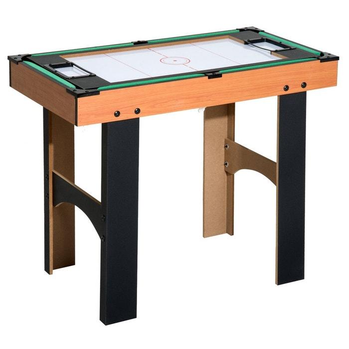 06a12e55018870 Table multi jeux 4 en 1 babyfoot billard air hockey ping-pong avec  accessoires mdf bois 87 x 43 x 73 cm - homcom marron Homcom   La Redoute