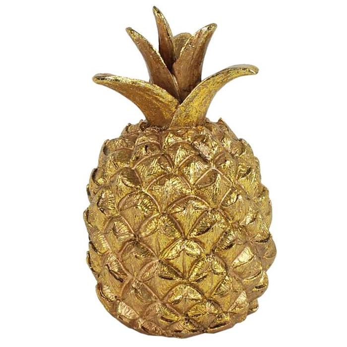 Petit ananas d co en r sine 9 5 cm couleur unique united for Petit ananas deco